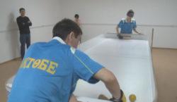 Инвалиды по зрению в Актобе осваивают новый вид спорта