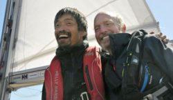 Японец с нарушением зрения пересек на яхте Тихий океан
