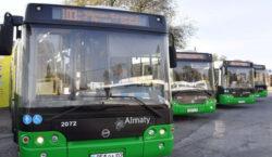 В Алматы остановил работу весь общественный транспорт