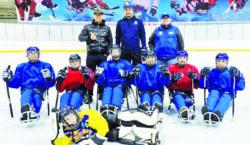 Хоккей на санях для столичных паралимпийцев