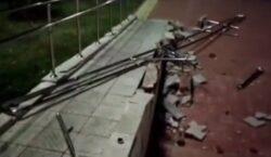Вандалы разгромили пандус для людей с инвалидностью в Лисаковске