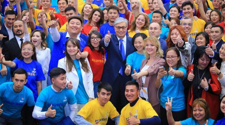 Президент Касым-Жомарт Токаев поблагодарил казахстанских волонтеров за работу
