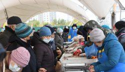 Солтүстік Қазақстан облысы Нұр-Сұлтандағы жәрмеңкеде ауыл шаруашылығы өнімдерін ұсынады